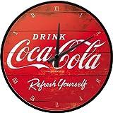 Nostalgic-Art 51074 - Orologio da parete con logo Coca-Cola Refresh Yourself, 31 cm, rosso