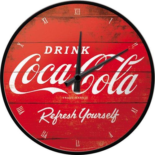 nostalgic-art-51074-orologio-da-parete-con-logo-coca-cola-refresh-yourself-31-cm-rosso