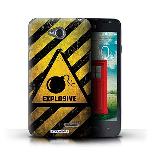 Kobalt® Imprimé Etui / Coque pour LG L65/D280 / Biohazard conception / Série Signes de Danger Explosif