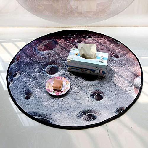 alfombras infantiles pour jouer de la musiqueTierra redonda Alfombra lavable Mesilla de la sala de estar Alfombra pour l 'homme de la caméra Alfombra de noche, 90X90cm, Moonplaymat bebé