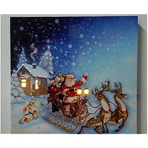 XYXY Babbo Natale speciale illuminato stampa tela con pittura decorazione
