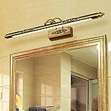 50 CM Badezimmer Spiegel Lampe Wasserdichte Retro Bronze Schrank Spiegel Beleuchtung Led Wandleuchte Lampe , warm light