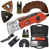 HECHT Elektro-Muktifunktionswerkzeug 1630 Multi-Tool 19-tgl Zubehör-Set (300 Watt, inkl. Koffer)