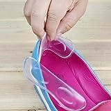 Beste Qualität Paar Silikon Einlagen / Einlegesohlen Für Schuhe Selbst Klebend Bequem In Farbe Transparent Von VAGA®