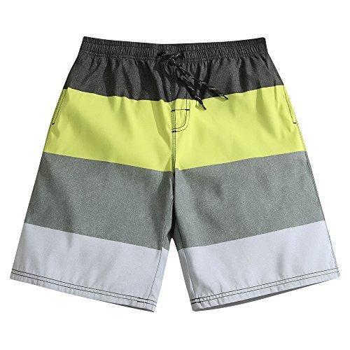 a82a31597201f SULANG Men's Stripes Fashion Board Shorts - 21