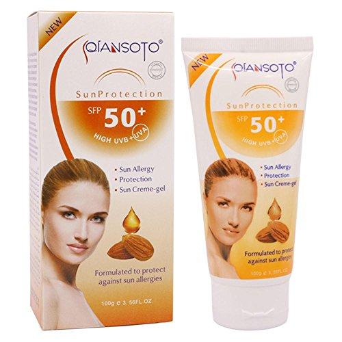 kashyk SPF50 Mandel Sonnencreme, Sonnencreme Concealer, wasserfest, aufhellende Haut, wasserfest, Nicht fettend, UV-beständig, wasserdicht und schweißresistent 100g -