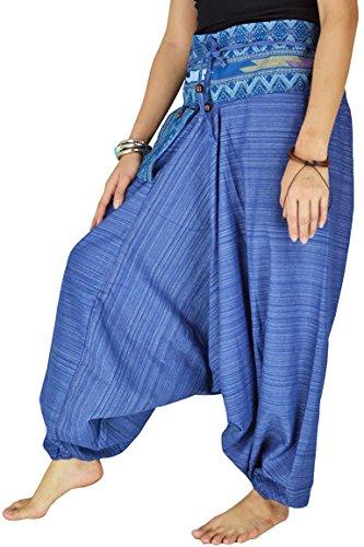 Kostüme Indische Kleinkind (Damen Haremshose Pumphose Aladinhose Handarbeit Baumwolle Yoga)