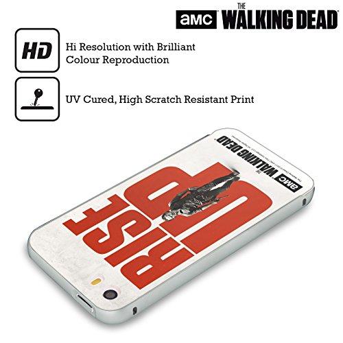 Ufficiale AMC The Walking Dead Daryl Alzarsi Argento Cover Contorno con Bumper in Alluminio per Apple iPhone 5 / 5s / SE Rick