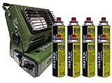 1.3KW riscaldamento esterno gas butano portatile compatto 8refill Canisters