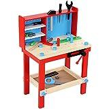 Infantastic Kinder Werkbank (Bunte) Spielzeugwerkbank mit Werkzeug Zubehör