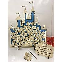 Fairy Castle 52 Cinderella Metallic Blue Wedding drop box alternative guest book birthday Princess decoration anniversary birthday weddings (Metallic Blue Cinderella)