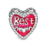 NINAQUEEN Damen Charms 925 Sterling Silber Bead für pandora Charms Armband Schmuck Geschenke für Geburtstag Weihnachten Jahrestag Hochzeit Mutter Tochter Mädchen Freundin frauen ihr