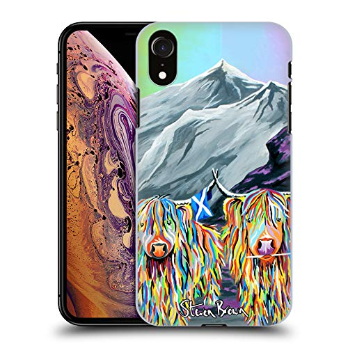 Price comparison product image Official Steven Brown William Rabbie Wallace Mccoo Highland Cow Collection 2 Hard Back Case for iPhone XR
