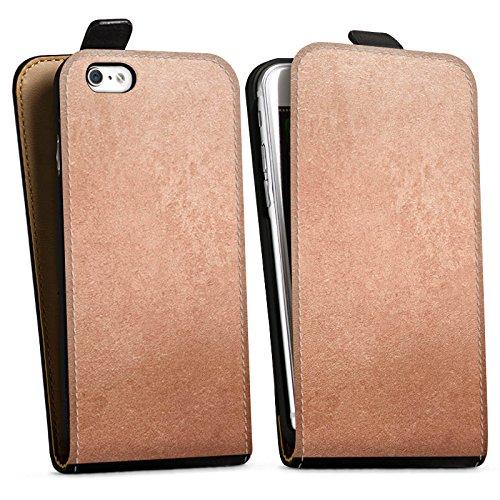 Apple iPhone X Silikon Hülle Case Schutzhülle Metall Rose Gold Look Downflip Tasche schwarz