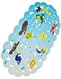 WARRAH Mehrzweck-Badematte / PVC-Material für Baby-Wanne-Matte Nicht Beleg-Matten für Kinder u. Dusche Badezimmer-Sicherheit Muster vom Ozean Coral Fish