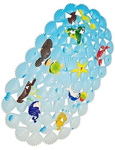 WARRAH Tapis de bain multi-usages / PVC pour tapis de bain Tapis antidérapants pour enfants et douche Coral Fish
