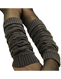 DDLBiz Women's Retro Fashionable Stretch Long Thick Soft Winter Leg Warmers Socks Boot Cover