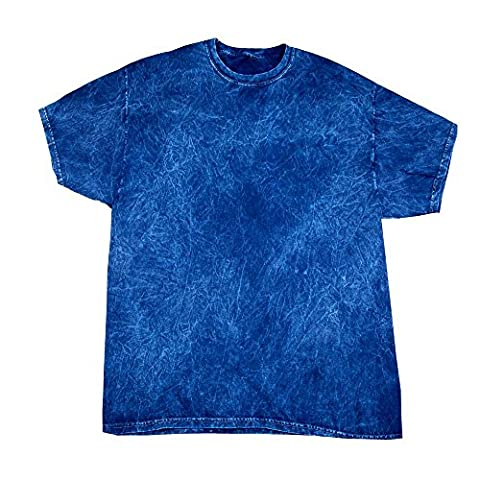 Colortone - Unisex Batik T-Shirt 'Mineral Wash' / Navy, XXL