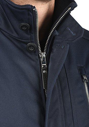 SOLID Wallo Herren Mantel lange Winterjacke mit Stehkragen aus hochwertiger Baumwollmischung Insignia Blue (1991)