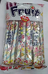 Captain Fruit Marshmallows (Halal) Twisted in Blue White Yellow Color, (24 X 13g), 312g
