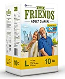 #2: Friends Adult Diaper Basic Limited Edition 102 Not Out 10's Pack (Large)