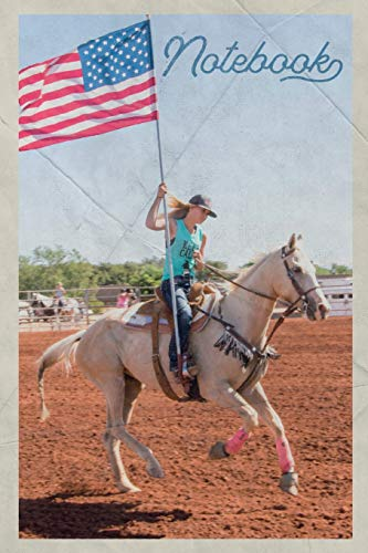 Notebook: Bronc riding Rodeo Events Elegant Composition Book Journal Diary for Men, Women, Teen & Kids Vintage Retro Design for Bucking Horse and Barrel racing fans (Wrestling-training-videos)