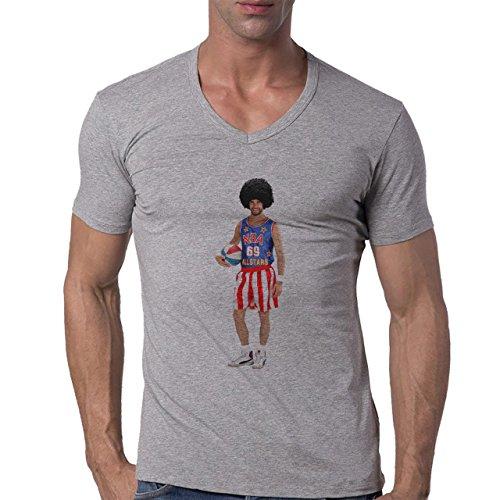 70's Looks Amazing That Shirt Herren V-Neck T-Shirt Grau