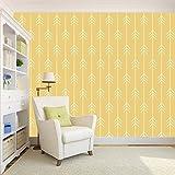 #7: 100yellow wallpaper Yellow Color Arrow Printed (Self Adhesive) PVC Vinyl Peel and stick waterproof Wallpapers For Kids Room Decor- 5.5 SqFt