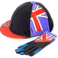Carote Unione per cappello e guanti Set (Rosso/Blu), Adulti