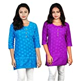 ABSTRA Women's Cotton 3/4 sleeves Ball p...