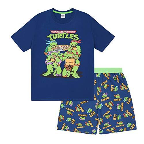 Teenage Mutant Ninja Turtles - Herren Schlafanzug - kurz - Retro-Design - offizielles Merchandise - Geschenk - L