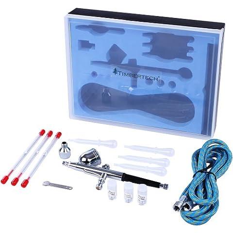 Timbertech - ABPST01 - Kit de aerógrafo - Incluye adaptador, manguera, boquillas y agujas