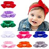 #3: Skudgear (Random Pack of Two) Baby Hair Bands Cute Knot Head Bands for Baby Girls - Random Colors