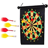 Quit-X™ Magnetic Dart Board Double Sided Hanging Dart Board Set - B07HNKMP5N