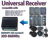 Universal 2-Kanal-Empfänger Rolling fester Code 300mhz-868mhz 12–24VAC/DC. Kompatibel mit: Hörmann HS1/HS2/HS4/HSE2/HSM2/HSM4/Funk/hds2-a 868/hsd2-c 868/HSZ1868/HSZ2868/HSP4868/hsp4-c 868. (nicht kompatibel mit bi-secure (BS) Fernbedienungen).