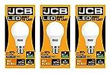 Pack of 3 JCB LED GLS Opal (Frosted) Household Light Bulb (10w Bayonet Cap (3000k Warm White))