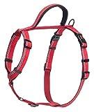 HALTI Hundegeschirr, mit 3M Reflektorstreifen und weichem Neopren-gefüttertem Griff, X-Klein, rot