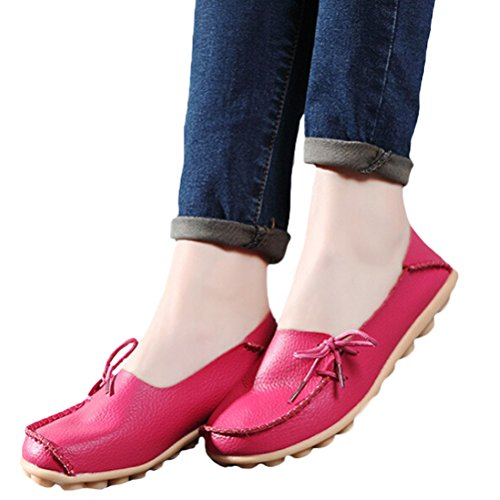 Vogstyle Moccasin Femme Casual Plat Tout-match Chaussures 33-43 Style-1 Rose