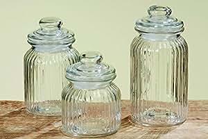 Vorratsglas 3er Set, Höhe 15 bis 23 cm