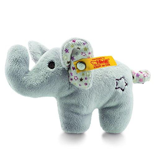 Steiff 240690 Mini Rassel-Knister Elefant 11, grau