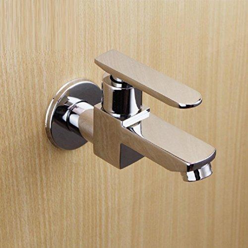 AMZH Bad Mop Pool Wasserhahn in die Wand Single Cold Hähne Full Copper schnell zum Öffnen der Spool Wasser Hahn