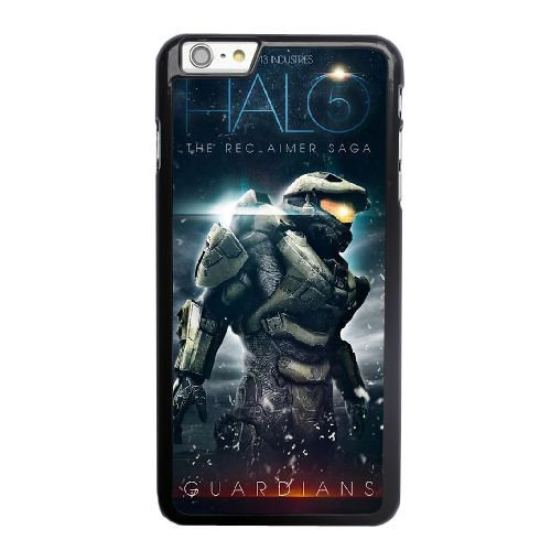 Grouden R Create and Design Phone Case, Halo 5 Cell Phone Case for iPhone 6 6S 4.7 inch Black + Tempered Glass Screen Protector (Free) LPC-8024977
