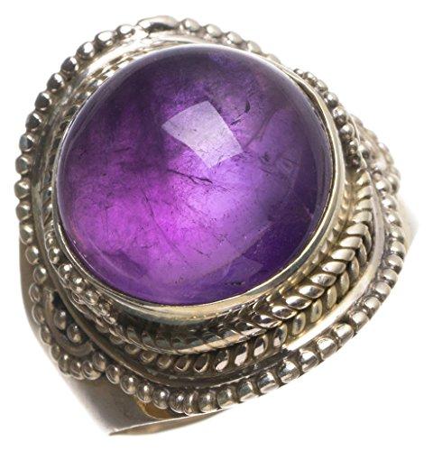 StarGems(tm) 925er Sterling Silber Amethyst Einzigartig Handgefertigt Ringe Purple - Teardrop Ringe Amethyst