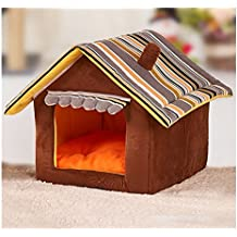 Esoes - Casa y sofá 2 en 1 para mascotas, con estampado de imitación de