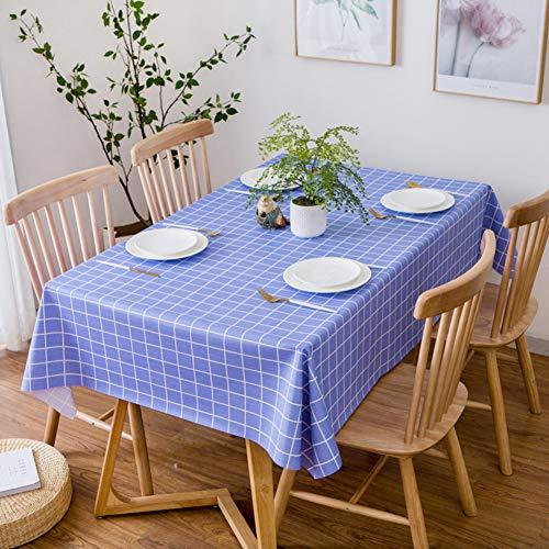 Tovaglia in pvc rettangolare plastica tovaglia plaid tovaglia protettiva per tavolini impermeabile tovaglia per il matrimonio banchetto ristorante-c 110x160cm