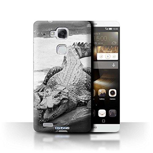 Stuff4® Hülle/Hülle für Huawei Ascend Mate7 / Krokkodil/Alligator Muster/Zoo-Tiere Kollektion