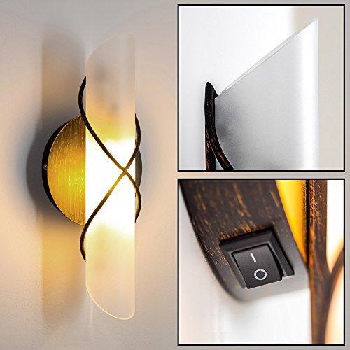 Wandleuchte braun Diele E27 Holz Wohnzimmer