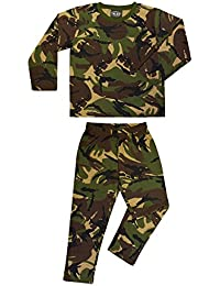 Kids Army Pyjamas Woodland Camouflage 100% Cotton - Ages 3-13 Available