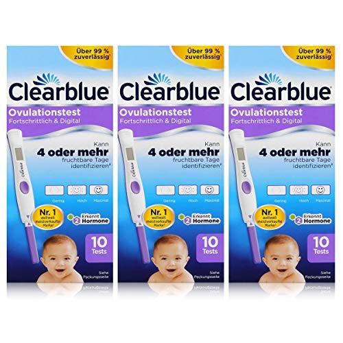 Clearblue Ovulationstest Fortschrittlich & Digital - 10 Tests (3er Pack)