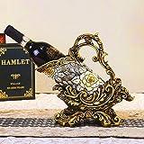 Weinregal, Resin Crafts European New Creative Wine Rack Hotel Dekorationen Winzermöbel amerikanischen Stil